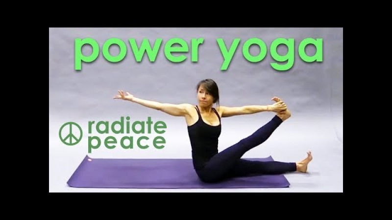 Power Yoga Workout ☮ Radiate Peace ☮