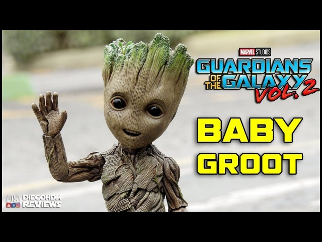 Hot Toys BABY GROOT Life Size Guardians of the Galaxy VOL2 Review BR / DiegoHDM