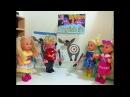 Приколи хвост ослику. Урок английского день рождения. Барби Про Школу Куклы в Шк...
