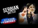 Milos Teodosic & Boban Marjanovic vs Nikola Jokic 47 Pts SERBIAN Battle 2018.02.27 | FreeDawkins