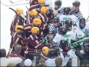 Scrum between North Dakota Fighting Sioux and the Gophers 1 14 2011