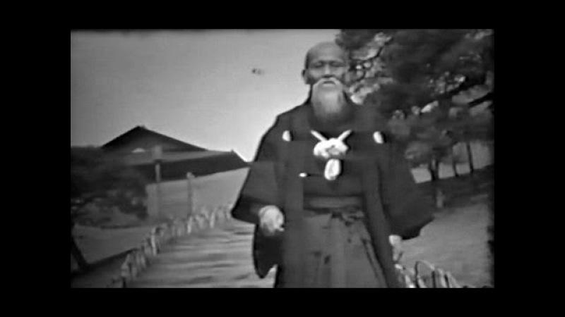 Aikido founder Morihei Ueshiba - Rare Footage in Tokyo (1956)