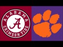 2017 College Football: ( 4) Alabama vs. ( 1) Clemson (Sugar Bowl) (Full Game)