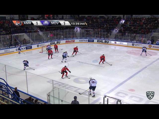 Моменты из матчей КХЛ сезона 16/17 • Удаление. Барнетт Джастин (Амур) удален на 2 минуты за подножку 26.01