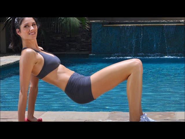Тренировка пресса и ягодиц с гантелями. Abs Workout - Buttocks Workout - Dumbbell Exercises - Music Only