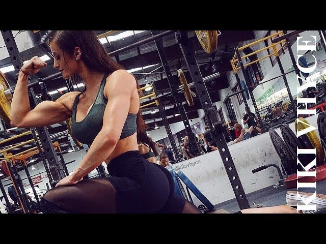 KIKI VHYCE Bodybuilding Fitness BLACKSTONE LABS Athlete GlamfitBikinis BlingCompJewelry