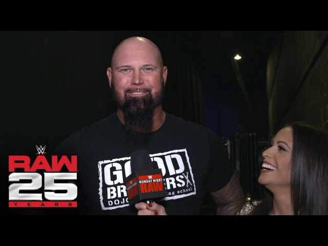 Luke Gallows does a pitch-perfect Howard Finkel impression before Raw 25: Exclusive, Jan. 22, 2018