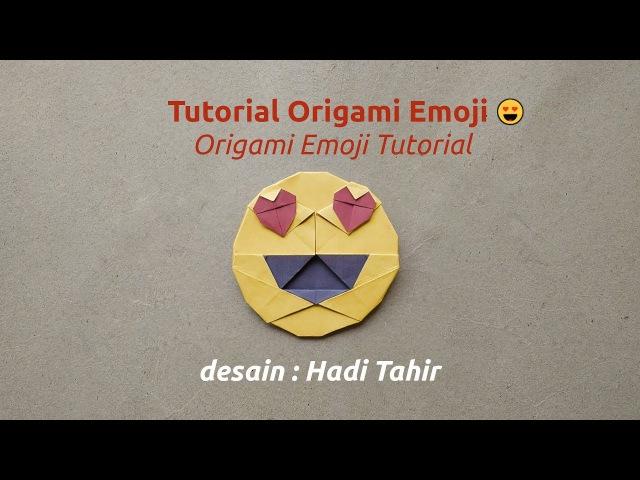 Tutorial Cara Membuat Origami Emoji 😍 'Mata Hati'/ How to Make Origami Heart Eyes Emoji 😍