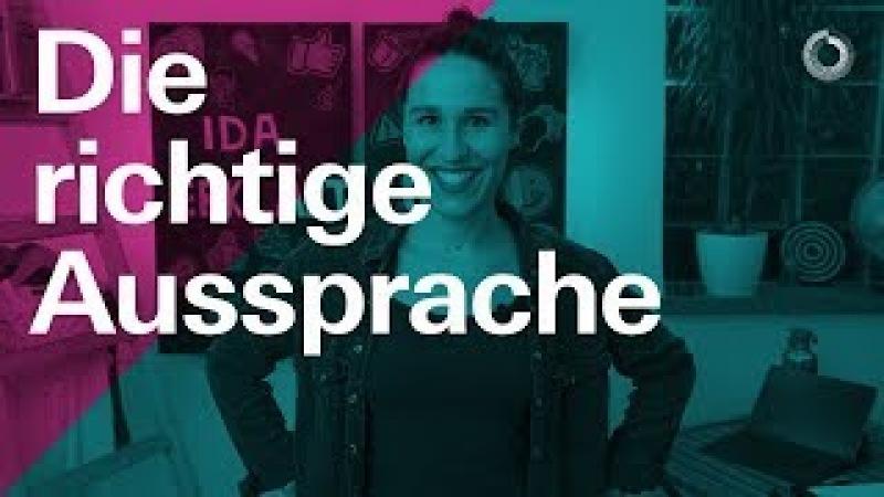 Richtige Aussprache auf Deutsch — Learn German with Ida   Ida erklärt A2/B1