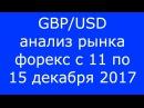 GBP USD Еженедельный Анализ Рынка Форекс c 11 по 15 12 2017 Анализ Форекс
