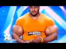 Real Life HULK Sings Arms Wrestles JUDGE! Got Talent Global