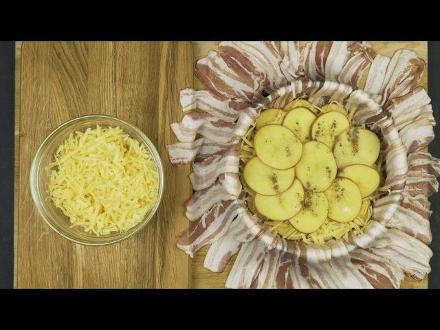 Картофельный тарт с беконом и сыром - Рецепты от Со Вкусом