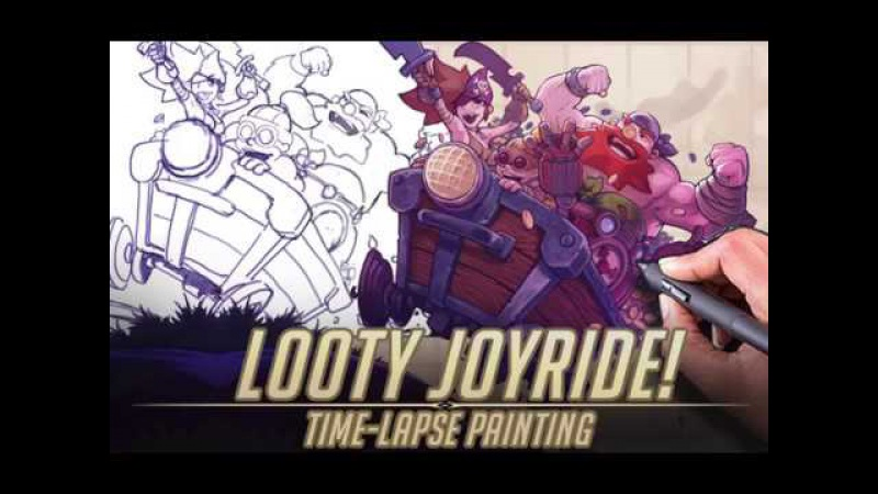 Looty Joyride - (Time-lapse painting) Cannon Ballers art.