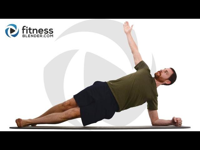 FitnessBlender - 30 Minute Advanced Core Strength Workout | Тренировка для живота, кора и спины
