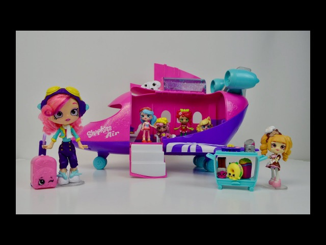 Shopkins Airplane Playset with Skyanna's Doll. Шопкинс самолёт Скайанны.