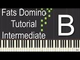 Fats Domino Piano Tutorial - Intermediate
