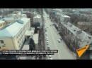 Огромная очередь на выборах президента РФ в Бишкеке — видео с дрона