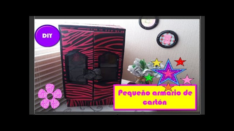 DIY Recycling cardboard, small closet ♥ ♥ Reciclando cartón, pequeño armario