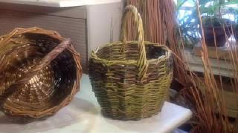 Плетём самую простую корзину.Ч.2.Basket wickerwork.
