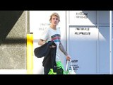 Justin Bieber Rocks Neon Raver Pants After Working Up A Sweat