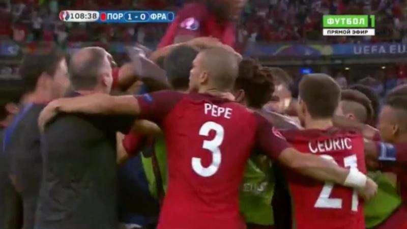 1xСтавка: Победный гол Эдера в финале Евро-2016