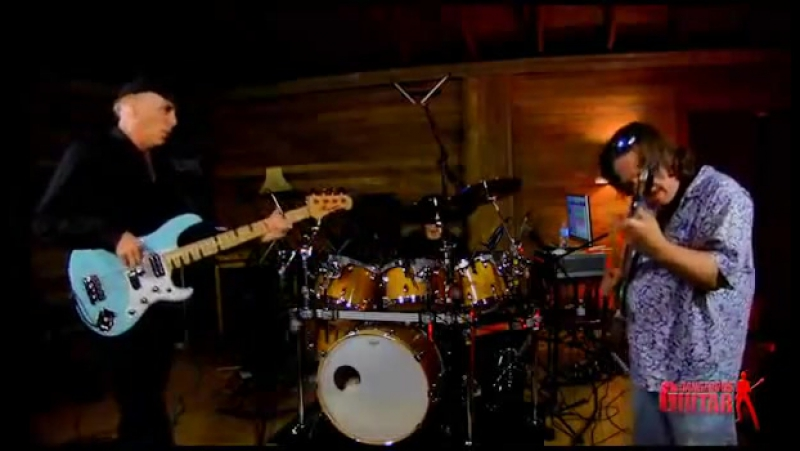 Billy Sheehan, Clint Strong, and Mike Gage Amazing Jam Session in (Guitar, Bass, and Drums)