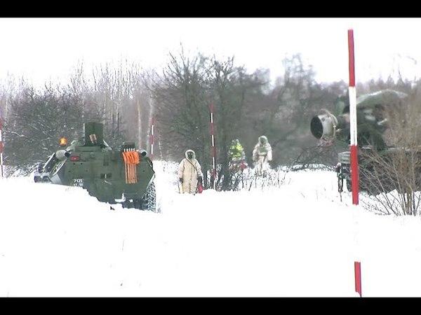 Ликвидация последствий условного химического заражения подразделениями РХБЗ в Курской области