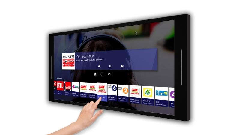 Интерактивная сенсорная панель для кухни - встраиваемый телевизор для кухни - телевизор встроенный в фасад кухни.