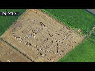 Land art- Giant Putin portrait emerges on cornfield ahead of G20 talks