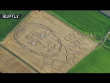 Land art- Giant Putin portrait emerges on cornfield ahead of G20 talks