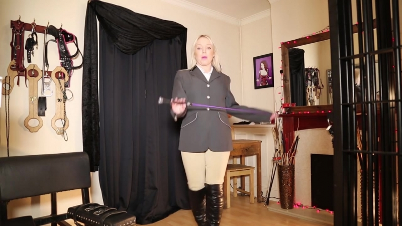 Stable Boy Whipping Punishment _ Equestrian Mistress BDSM Dominatrix _ Fetish Clip Preview