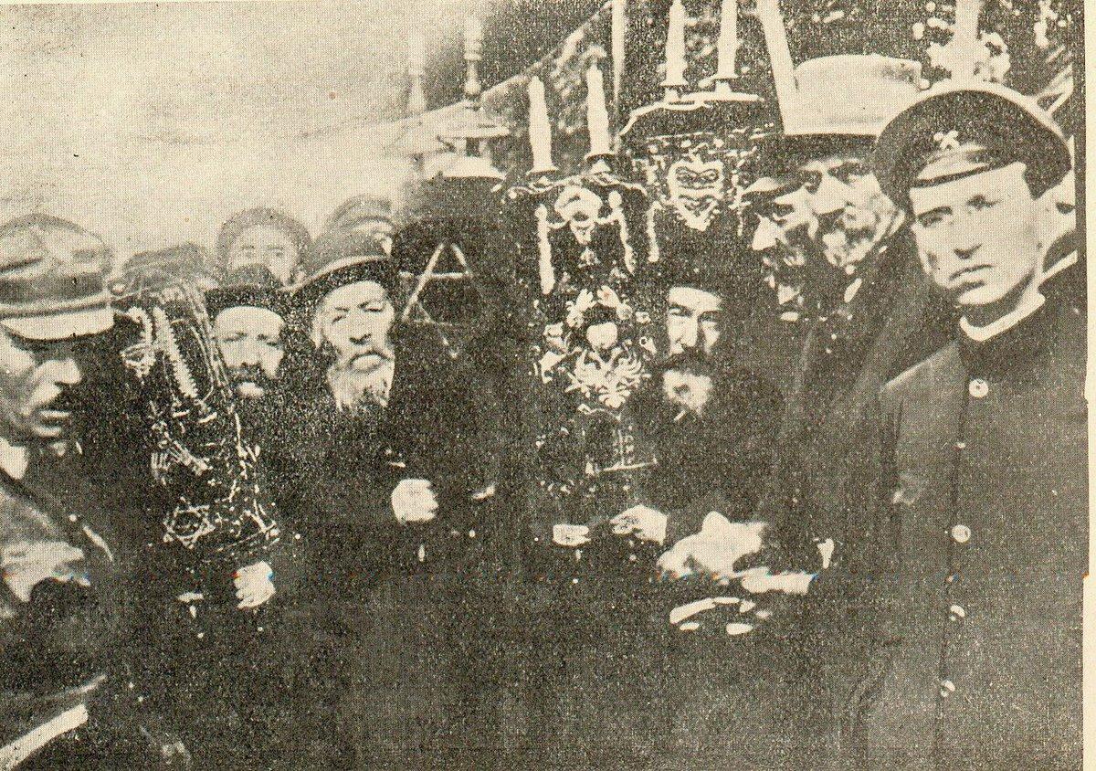 Жмеринские евреи встречают главу Директории УНР Симона Петлюру, УНР, 1919 год.