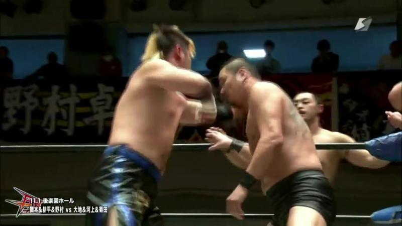 Daichi Hashimoto Kazumi Kikuta Ryuichi Kawakami vs Daisuke Sekimoto Kohei Sato Takuya Nomura BJW 01 11 2017