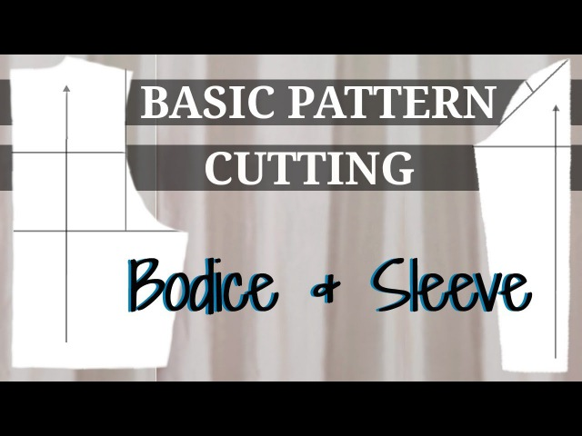 BASIC BODICE SLEEVE BLOCK PATTERN stretch