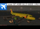 FSX Pulkovo ULLI - Moscow DME UUDD S7 Airlines A320 Flight RUS