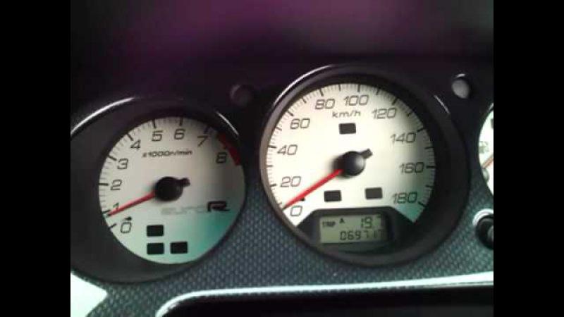 Honda Accord Euro R CL1 0-100 kmh FUJITSUBO PowerGetter LightWeight flywheel