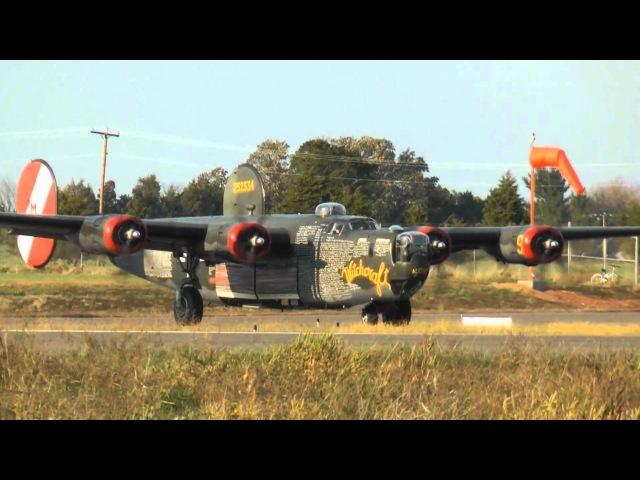 B 24 Liberator Run Up Take off and Landing at KHWY on 10 12 10 at 1700