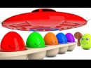 Learn Color Learn Shapes Surprise Egg W Kinetic Sand PlayDoh Nursery Rhymes Song For Kids