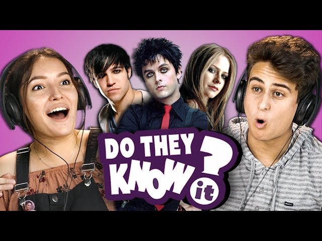 DO TEENS KNOW 2000s POP PUNK MUSIC 3 (REACT Do They Know It)