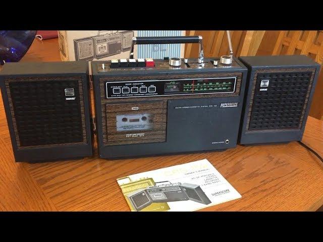 Marantz Superscope CRS-152 vintage woodgrain boombox