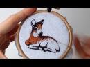 Видео курс по вышивке гладью как вышить брошь олень