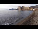 Крым в январе. Судак, Набережная и пляж, прогулка 10 января 2018 г