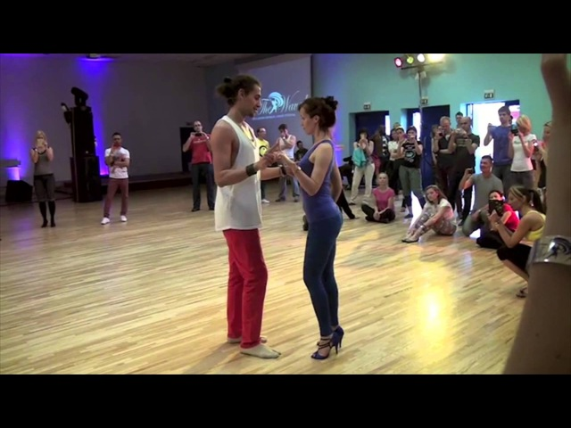 Leading and Following Kizomba Workshop Demo @ ON THE WAVE 2014_Nemanja Sonero Laura Zaray