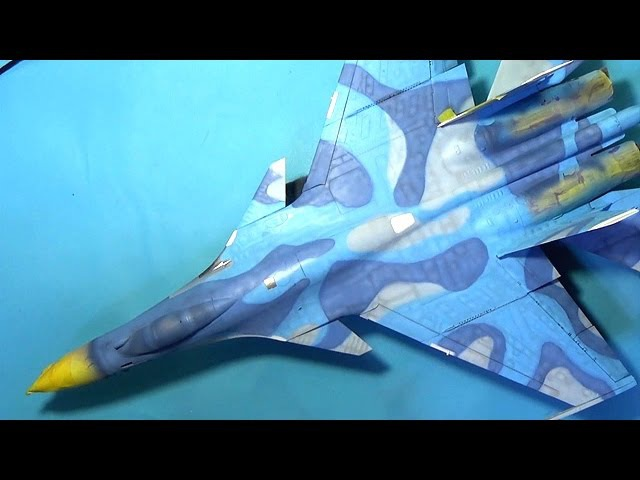 KINETIC 148 SU-33 FLANKER D Part.3 위장색 도색(camo painting) 프라모델 도색 scale model aircraft