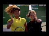 Naomi Osaka learns the Tweener with Daria Kasatkina | Indian Wells 2018