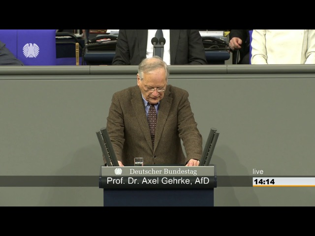 Axel Gehrke AFD: Ich kann den ÖKO Scheiß nicht mehr hören, Frau Göring-Eckardt! 18.01.2018