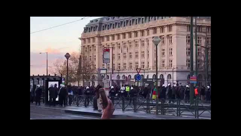 Riots in Brussels following the gathering against slavery in Libya