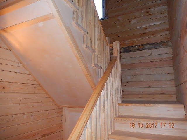 Лестница 2450х2060х2790(д.ш.в.)изготовление . День 2.