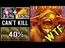 WTF CANCER 40% Lifesteal Even Fountain Can't Kill Him Crazy Bristleback by NoOne Dota 2