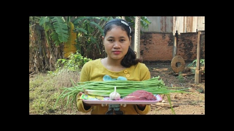 Awesome Cooking Fried Beef W/ Long Beans Delicious Recipe - Cook Beef Recipes - Village Food Factory